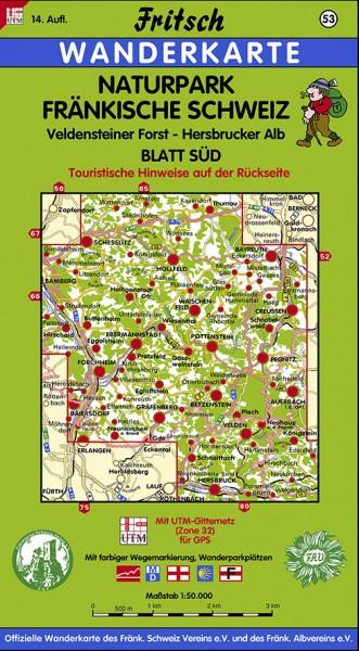 Naturpark Fränkische Schweiz – Blatt Süd