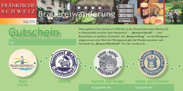 Geführte Brauereiwanderung mit Brotzeit (Gutschein)